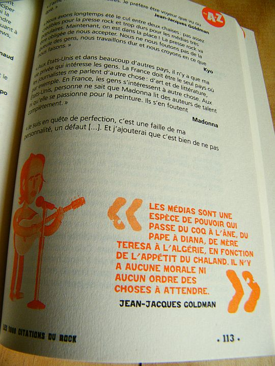 extrait page 113 du Guide MusicBook des 1000 citations du Rock