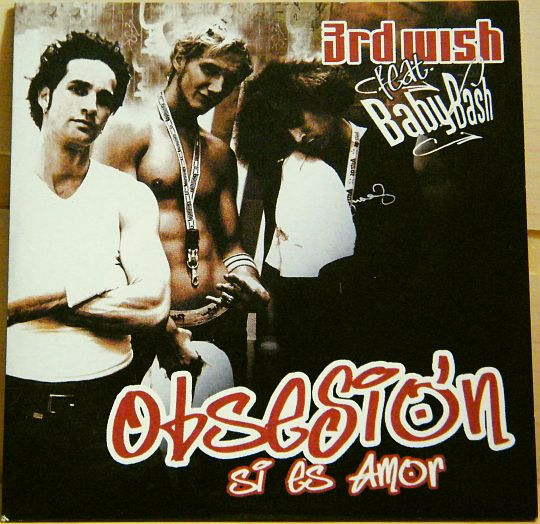 recto coloré du CD promo monotitre Collector de 3rd Wish Babybash - Obsesion