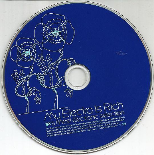 verso de la compilation électro interdite à la vente V2 MUSIC - My electro is rich