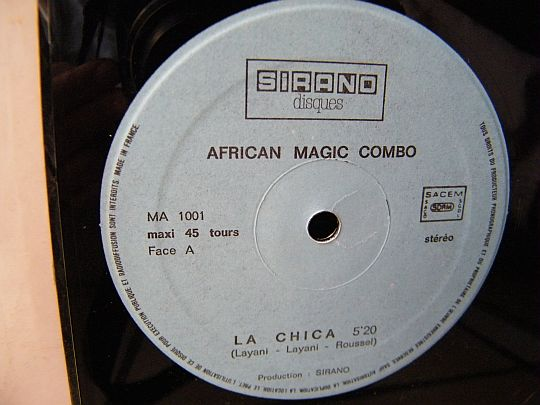 face A du maxi Collector promo d'African Magic Combo - La chica