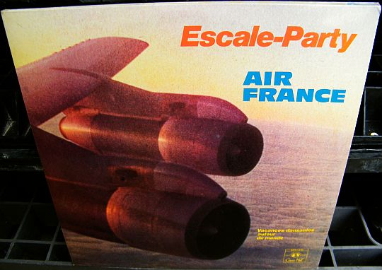 recto du double LP Collector promotionnel offert par AIR FRANCE - Escale-Party, vacances dansantes autour du monde