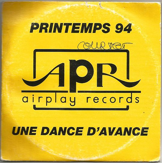recto du CD sampler Collector promo d'Airplay Records printemps 94