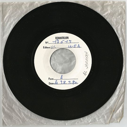 45 tours White Label WEA d'Al Jarreau - Never givin' up