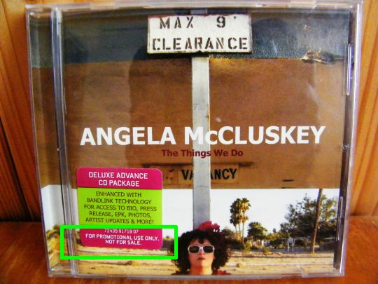 cd promo Collector advance d'Angela McCLUSKEY - The things we do