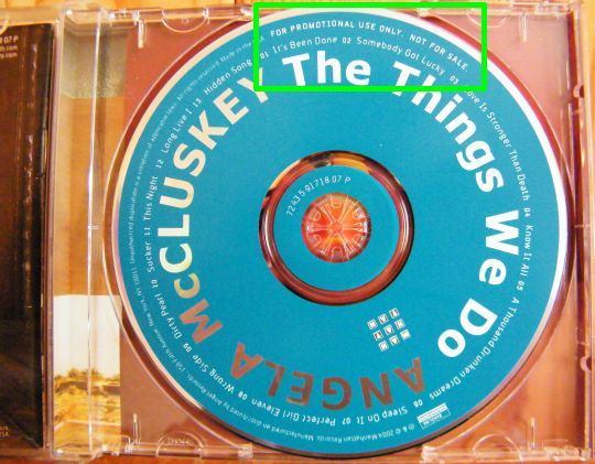 disque compact promotionnel Collector The things we do par Angela McCluskey