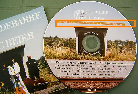 CD sampler promo couleurs Collector paroles de swing d'Angelo Debarre et Ludovic Beier