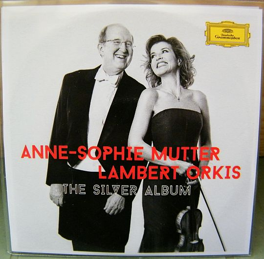 recto du double CD sampler collector d'Anne-Sophie Mutter et Lambert Orkis - The silver album