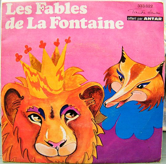 recto du 45 tours Collector Antar - Les Fables de la Fontaine par Mary Marquet