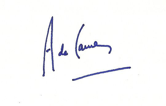 authentique signature autographe d'Antoine de Caunes