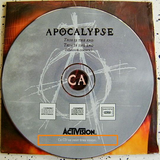 CD collector Apocalypse