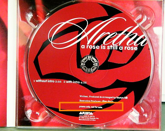 CD promo d'Aretha Franklin - A rose is still a rose