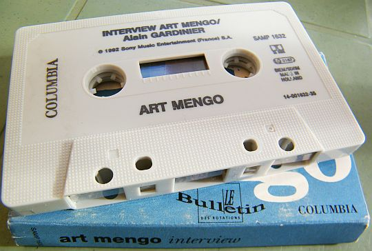 cassette interview d'Art Mengo Collector face 2