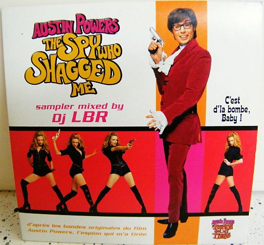 recto de la compilation promo Collector 8 titres d'Austin Powers remixée par DJ LBR