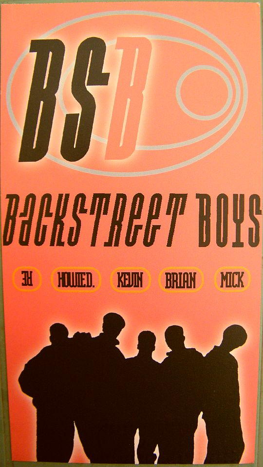 recto du feuillet promo des Backstreet Boys pour Quit playin' game