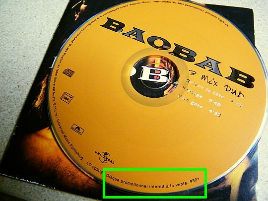 CD sampler collector promo de Baobab - 3 mix dub
