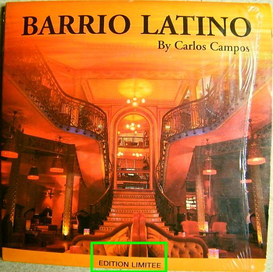 recto du CD-extra sampler promo Barrio Latino