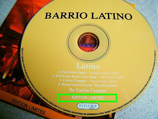 CD sampler collector orange du Barrio Latino