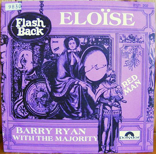 recto du 45 tours promo Collector de Barry Ryan with the Majority - Eloïse