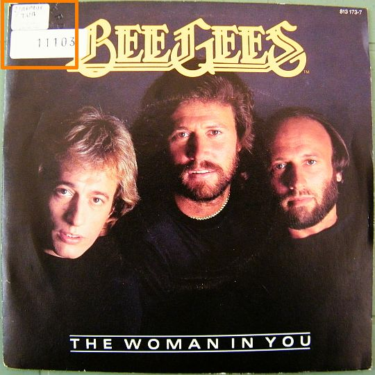 pochette recto du 45t promo Collector des Bee Gees - Woman in you