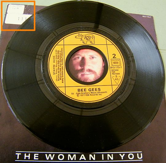 face 2 du Collector  des Bee Gees - The woman in you pour le film Stayin' alive