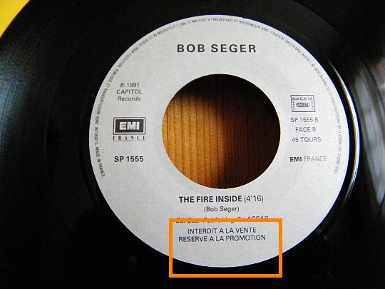 The fire inside face B par Bob Seger and The Silver Bullet Band