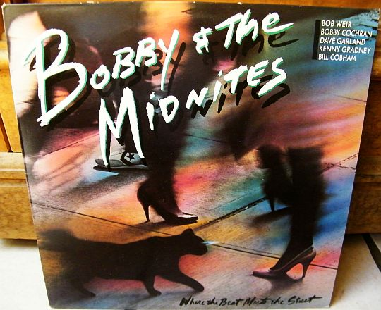 recto du LP promo de Bobby and the Midnites - Where the beat meets the street
