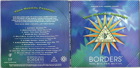dépliant Collector promo du sampler Borders/6° Your musical passport