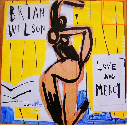 verso du 45t promo de Brian Wilson - Love and mercy