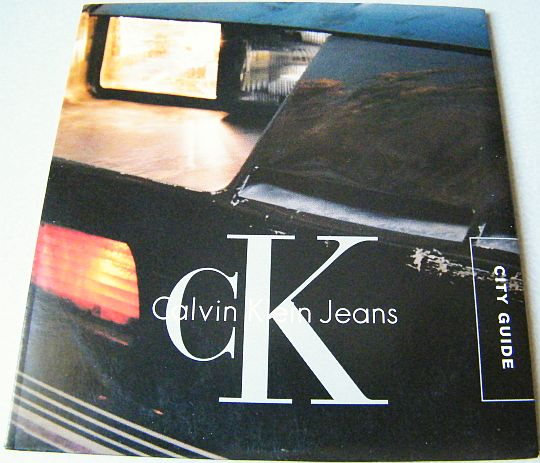 recto du Black Book City Guide CK JEANS sur CD-ROM promo