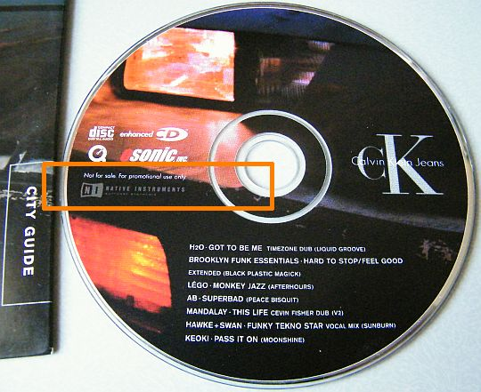 CD sampler promo collector Calvin Klein CK Jeans City Guide