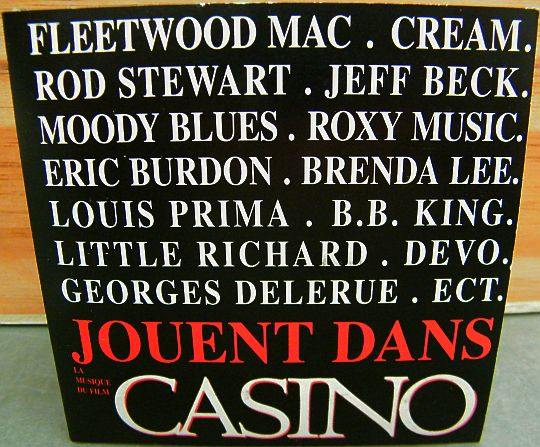 recto du maxi CD sampler collector du film Casino de Martin SCORCESE