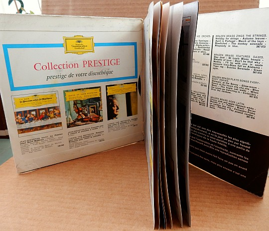 catalogue dépliant illustré Deutsche Grammophon de 16 pages
