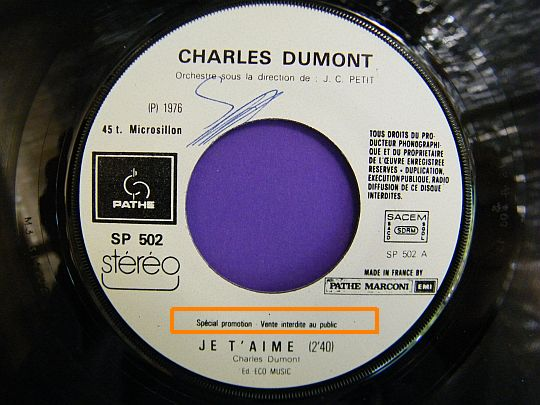 charles dumont - je t'aime