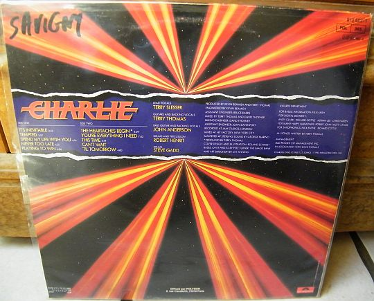 verso du LP promotionnel Collector de Charlie dit (5)