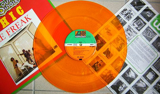 disque vinyle orange Collector de CHIC - Le freak