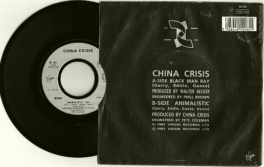 face B Animalistic du 45t promo des China Crisis