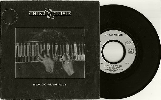 recto et 45 tours promo de China Crisis - Black man ray