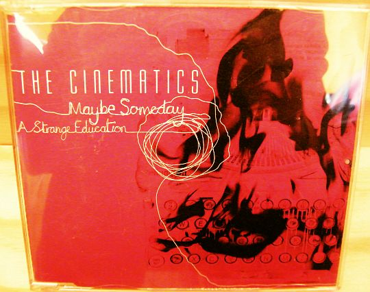 pochette recto du CD promo de The Cinematics - Maybe someday