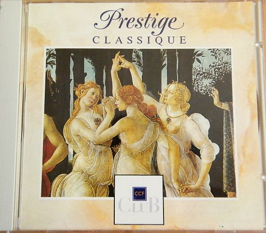recto du CD collector Prestige Classique par Club CCF