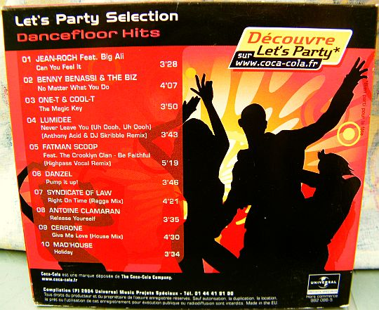 verso du sampler Collector Coca-Cola Dancefloor hits 2004