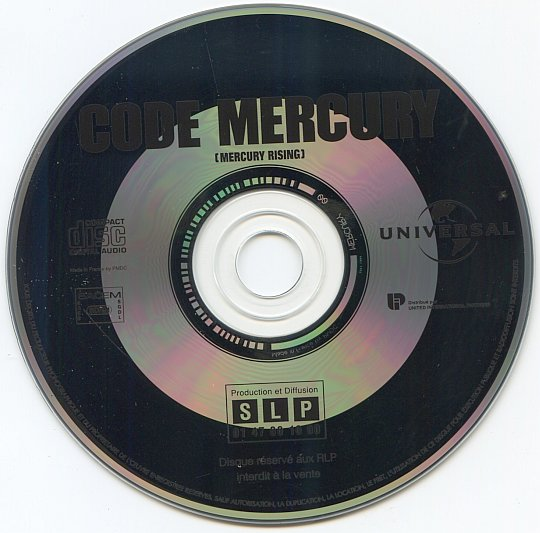 CD du dossier de presse audio du film Code Mercury