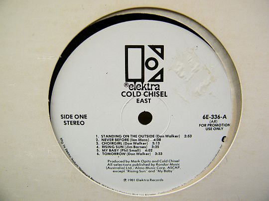 face A du vinyle Collector promotionnel East des Cold Chisel
