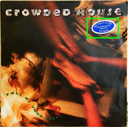 recto du 45 tours promo Collector des Crowded House - Fall at your feet