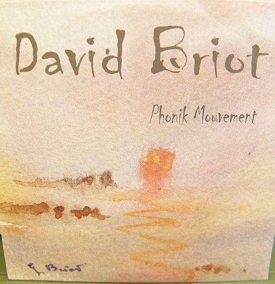 recto du CD promo de David Briot - Phonik mouvement