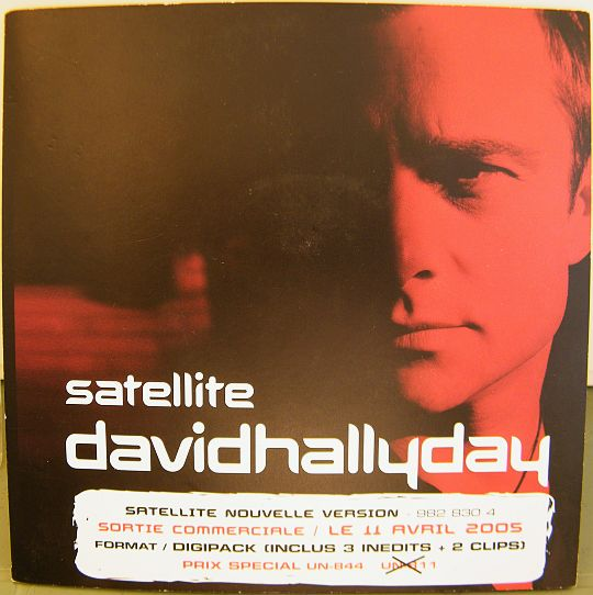 pochette recto du CD sampler Collector précommande format 45 tours de David Hallyday - Satellite, version 2