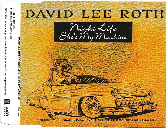 insert promo du single de David Lee Roth - Night life - She's my machine