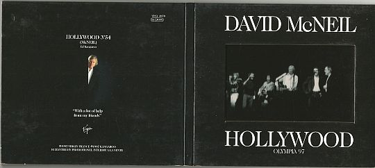 recto-verso du CD monotitre Collector de David McNeil - Hollywood