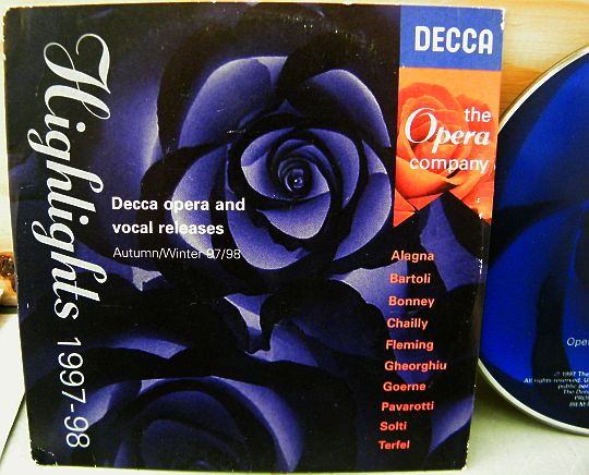 recto du CD sampler collector Decca - Highlights 1997-98