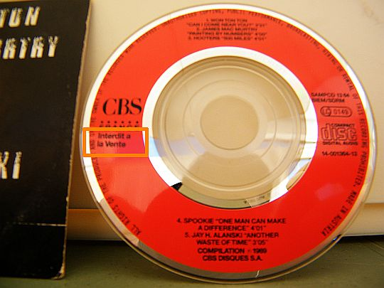 mini-CD sampler collector CBS