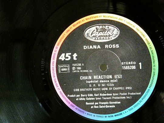 diana ross face A chain reaction